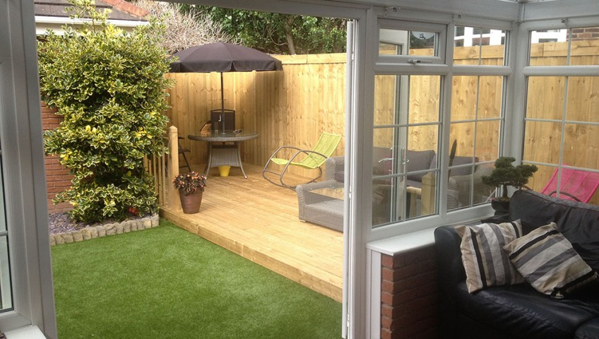 Conservatory with decking copy